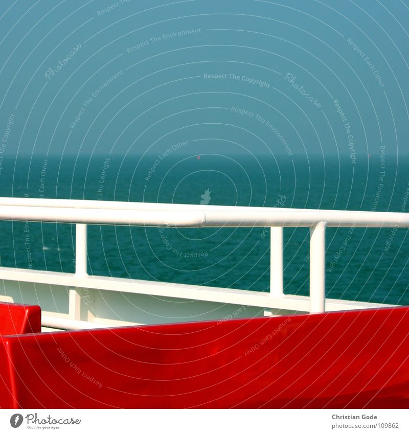 Water Sky White Ocean Blue Red Vacation & Travel Lake Watercraft Wind Horizon Island Navigation North Sea Swing Seating