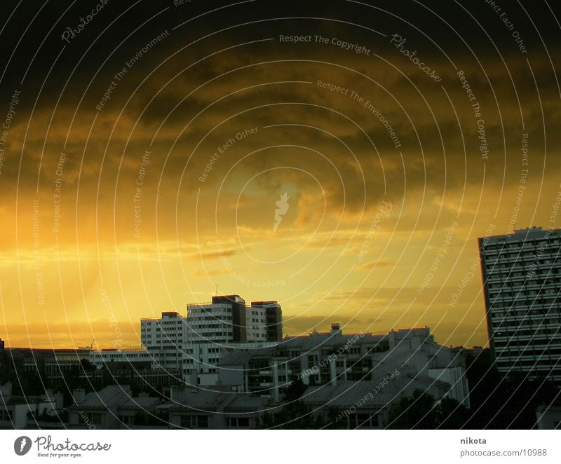 City Yellow Weather Rain Wind Munich Storm Sahara Bavaria Desert Thunder