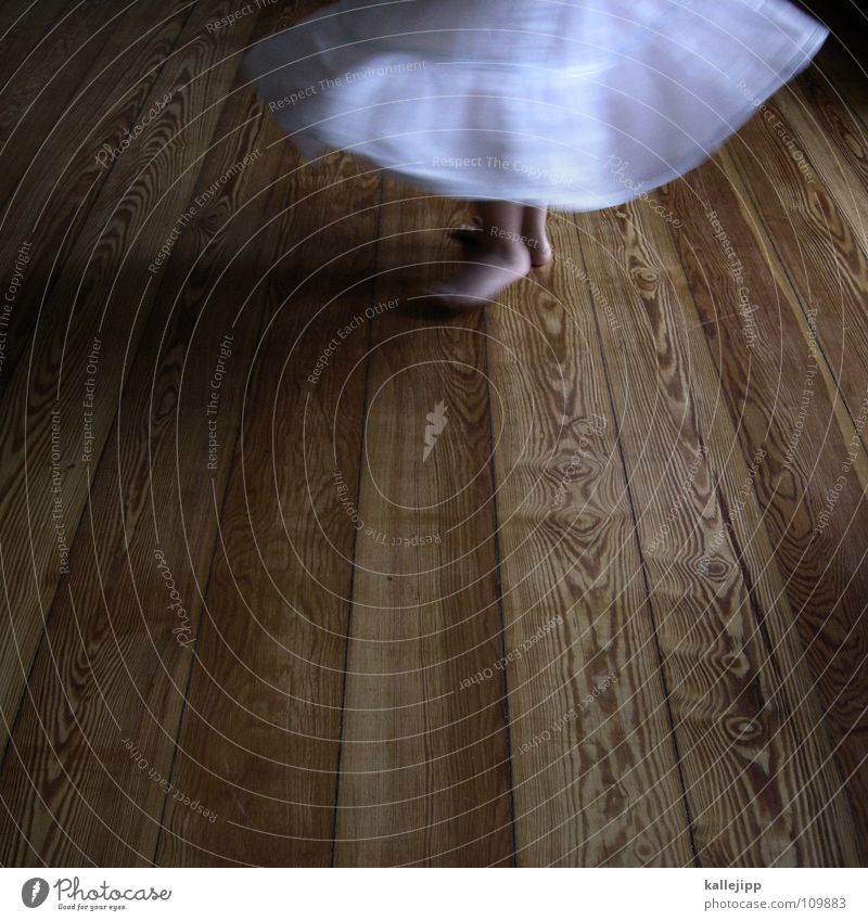 600 - dance ball Child Playing Rotate Movement Room Living room Shows Dress Barefoot Toes Girl Floor covering Dance floor Wood White Gymnastics ballet
