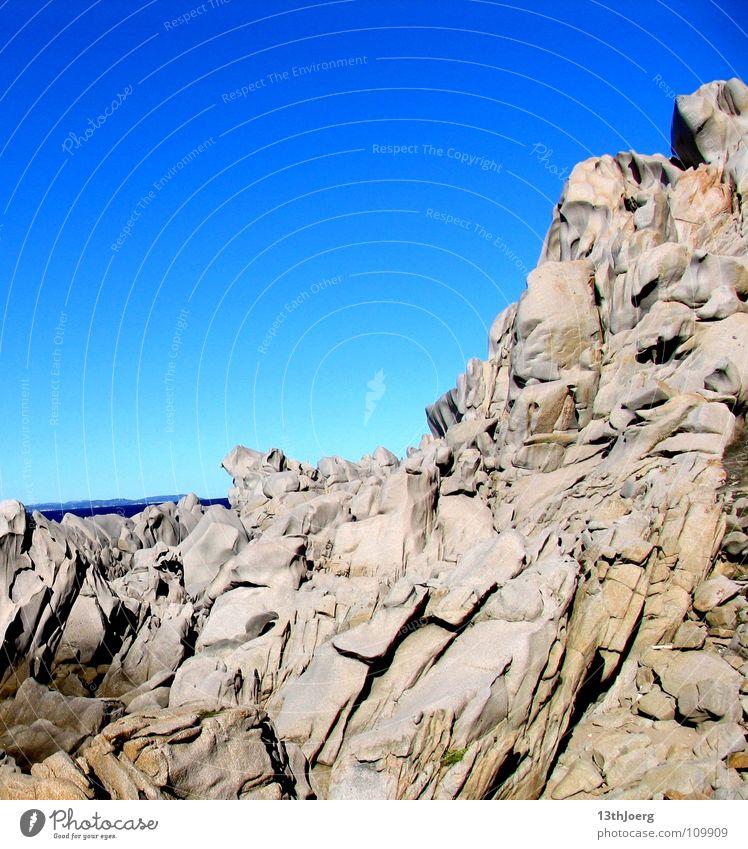Nature Ocean Blue Gray Stone Landscape Coast Dangerous Island Italy Broken Steep Formation Minerals Stony Sardinia