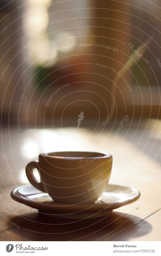 un altro? Food Breakfast Beverage Hot drink Espresso Cup Emotions Moody Contentment Coffee steam Particle Wood Reflection To enjoy Luxury Beginning Hospitality