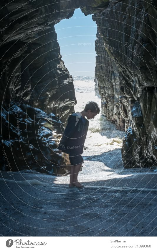 356 Vacation & Travel Trip Adventure Freedom Summer Summer vacation Sun Ocean Waves Boy (child) Infancy Life 1 Human being 3 - 8 years Child Nature Landscape