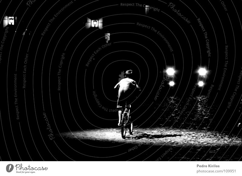 the boy and the bike Black & white photo Bicycle pb bw pedrokirilos tiradentes Minas Gerais cinema run lights bicicle