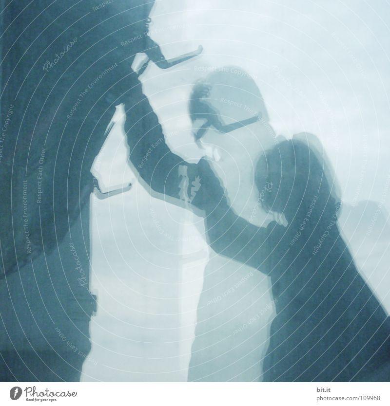 Woman Human being Beautiful Blue Rain Glass Mirror Checkmark