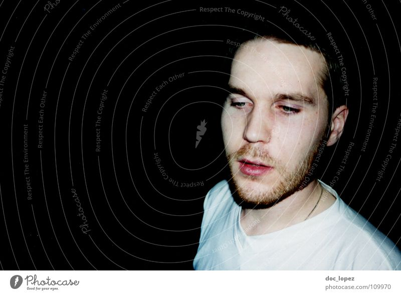 Human being Man White Black Dark Sadness Think Pallid Stop short Irradiated