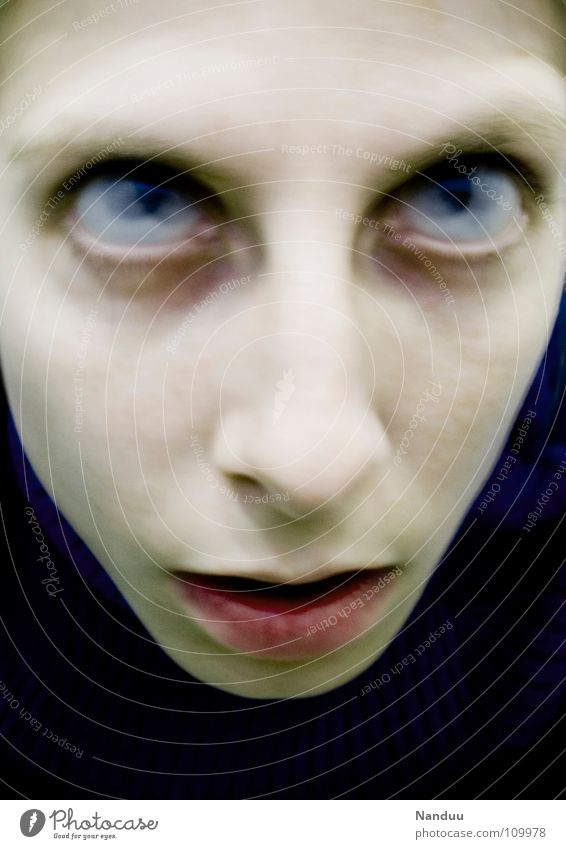 zombie Hallowe'en Eyes Disgust Creepy Hideous Broken Death Fear End Transience Zombie Undead Ghosts & Spectres  Completed Panic pooh baa Long exposure Blur