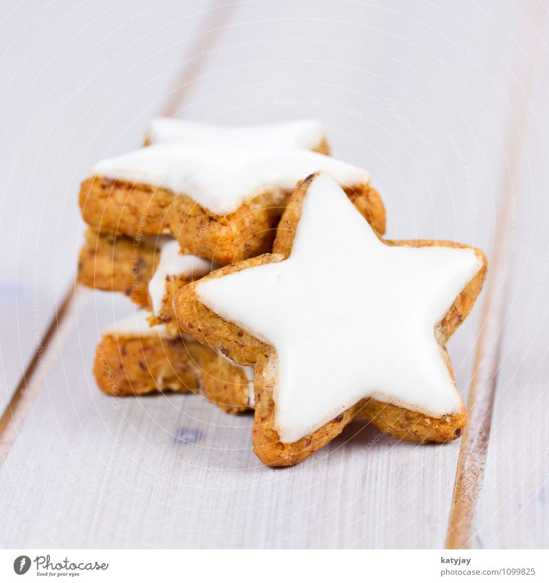 cinnamon stars Star cinnamon biscuit Christmas biscuit Christmas & Advent Cinnamon December Baked goods Sense of taste Card Seasons Bakery shop