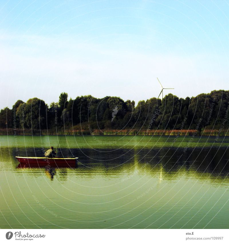 Nature Water Sky Tree Blue Calm Far-off places Lake Watercraft Moody Background picture Horizon Circle Fish River Round
