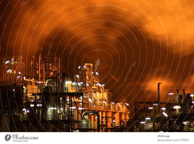 Sky Blue Red Black Dark Car Warmth Line Brown Lighting Metal Environment Tall Industry Energy industry Electricity