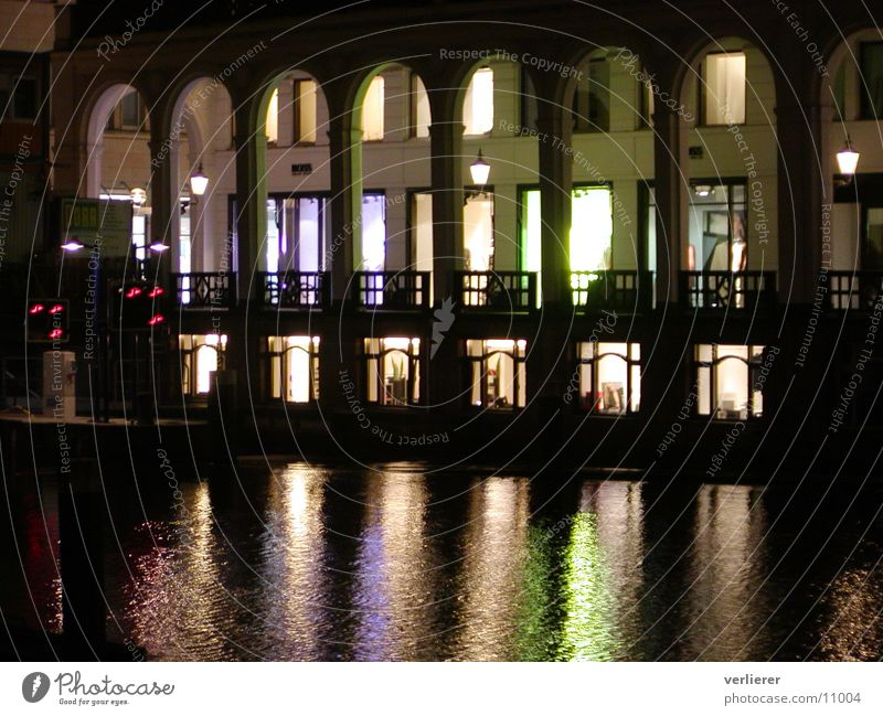 HH by Nights Alster Photographic technology Hamburg Arcade