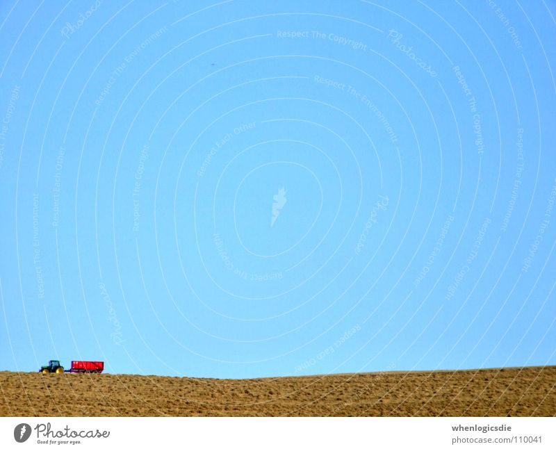 brumbrum Tractor Field Red Summer Multicoloured Followers Harvest