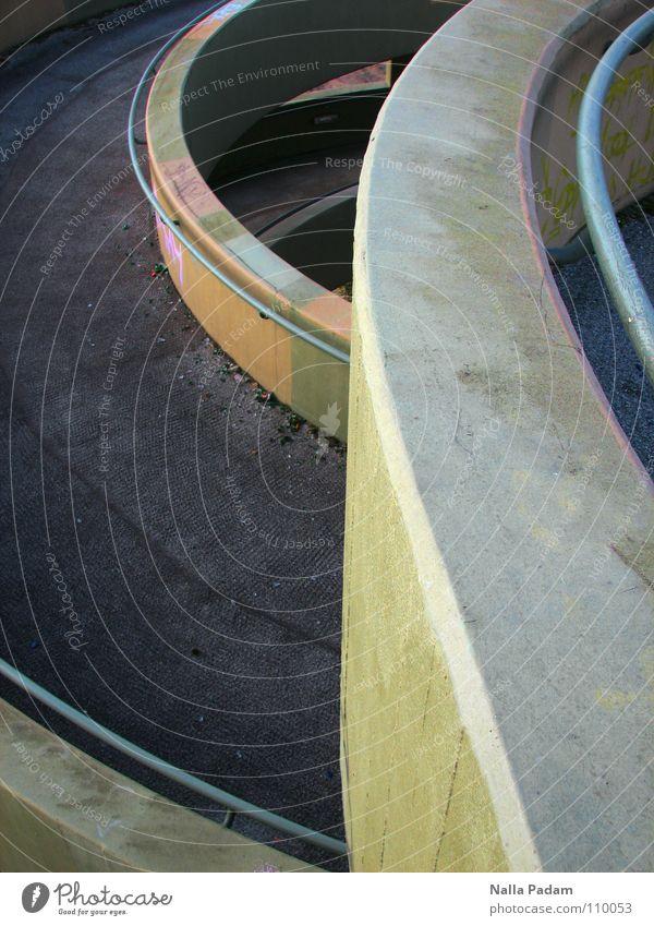 Architecture Exceptional Concrete Round Asphalt Handrail Footpath Spiral Whorl Curved