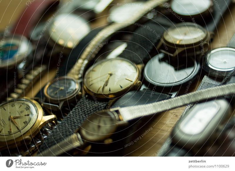 Even more old watches Clock Time Eternity Clock face Contemporary witness Traces of time Jewellery Clock hand Bracelet Present Day Past Future Gentleman Lady
