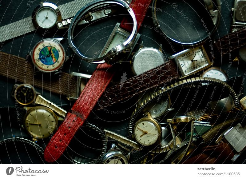 clocks Clock Time Eternity Clock face Contemporary witness Traces of time Time difference Jewellery Clock hand Bracelet Present Day Past Future Gentleman Lady