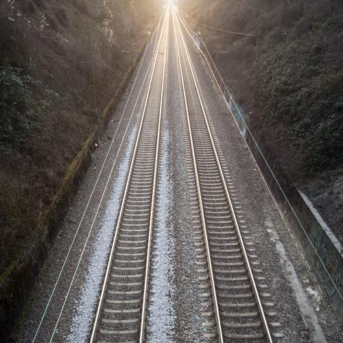 as if on rails Vacation & Travel Tourism Trip Far-off places Freedom Transport Means of transport Traffic infrastructure Passenger traffic Public transit
