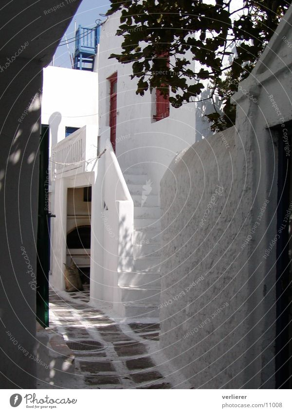 gasse on mykonos Alley Vacation & Travel Greece Brilliant Southern Europe Architecture