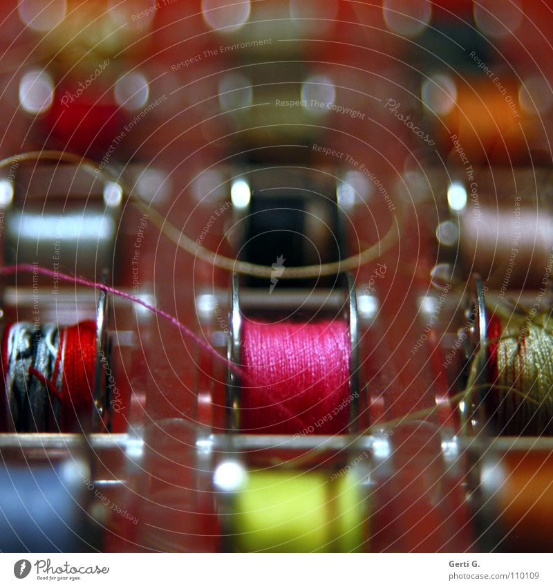spinning all over... Craft (trade) Sewing Pink Coil Sewing thread Sewing machine Multicoloured Arrange Textiles Silk Handbook Lose the thread Industry Colour