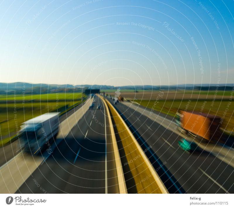 Landscape Street Movement Business Car Transport Vantage point Speed Industry Logistics Driving Highway Truck Motoring Means of transport Performance