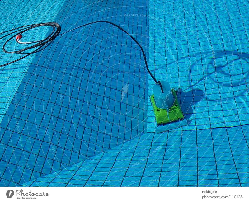 Blue Water Summer Joy Jump Line Waves Dirty Wet Cleaning Swimming pool Dive Tile Deep Tilt Bikini