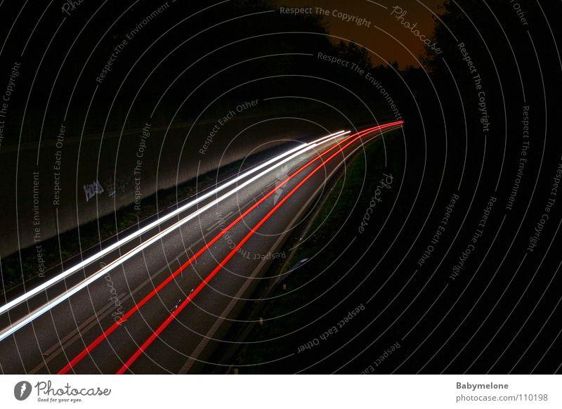 Street Dark Movement Car Transport Speed Tracks Highway Floodlight Rear light Freeway Strip of light