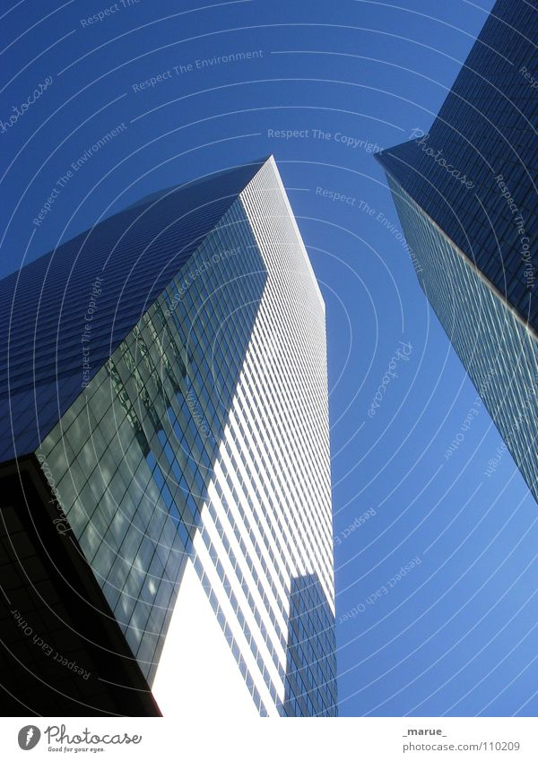Sky White Blue Above Window Metal Glass Large High-rise Might Clarity Upward