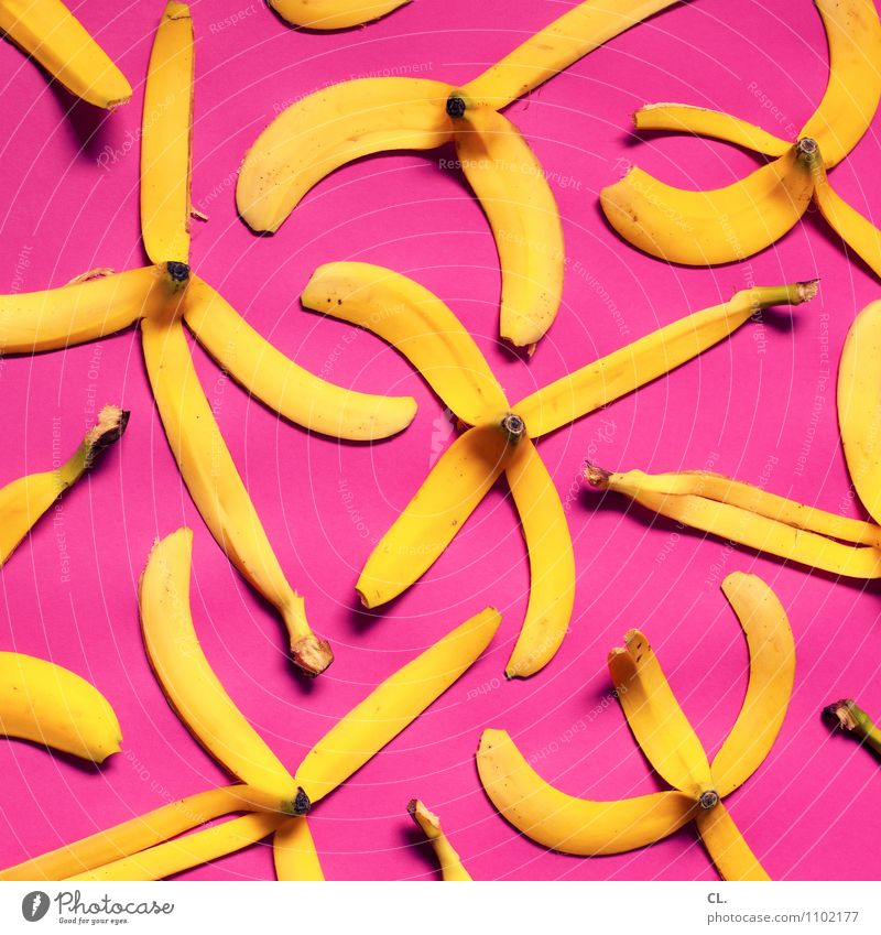 i go bananas Food Fruit Banana Nutrition Eating Organic produce Healthy Eating Exceptional Delicious Yellow Pink Creativity Whimsical Super Still Life