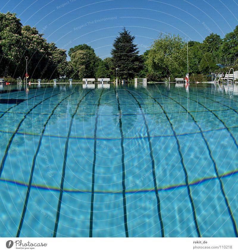 Blue Water Summer Jump Line Waves Fear Dirty Wet Cleaning Swimming pool Dive Tile Deep Tilt Bikini