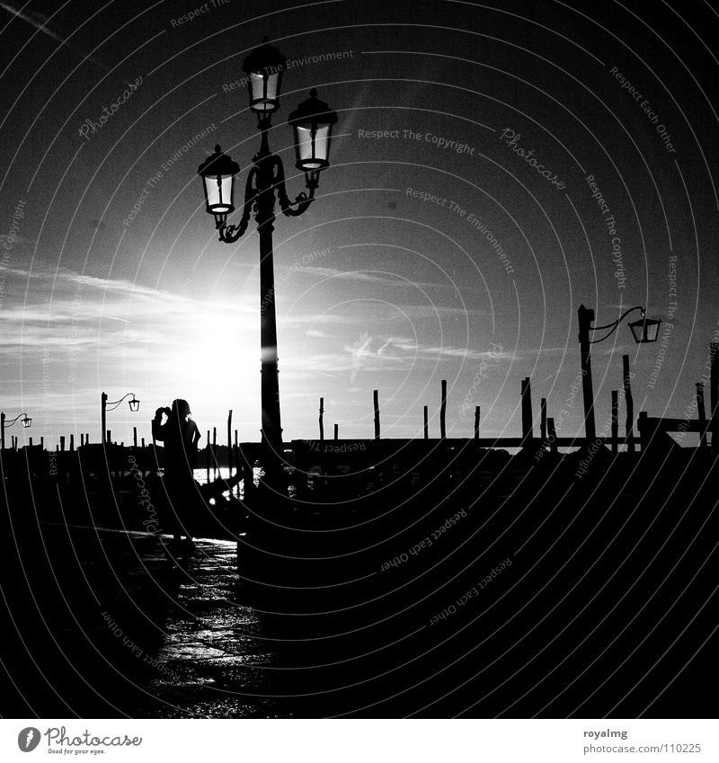 Buona notte venezia Black White Light Dusk Night Lamp Italy Calm Relaxation Late Loneliness Planning Breathe Historic Transience Sun the last Bright spot