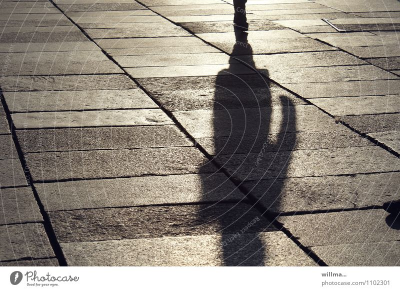 no contact Human being 1 Loneliness Shadow Shadowy existence Shadow play Places To go for a walk Townsfolk city stroll Crime thriller Individual Paving tiles