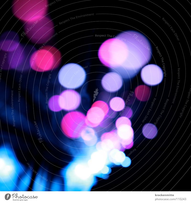 Blue Colour Lamp Pink Circle Point Way out Night life