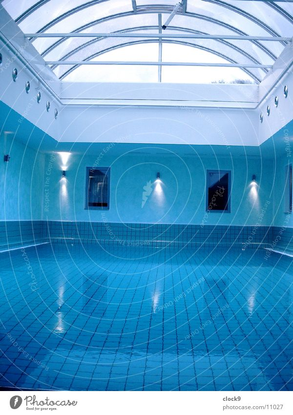 Blue Water Relaxation Architecture Movement Swimming pool Wellness
