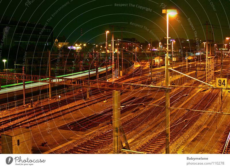 Vacation & Travel Dark Movement Transport Railroad Speed Railroad tracks Train station Come Hissing Depart Basel
