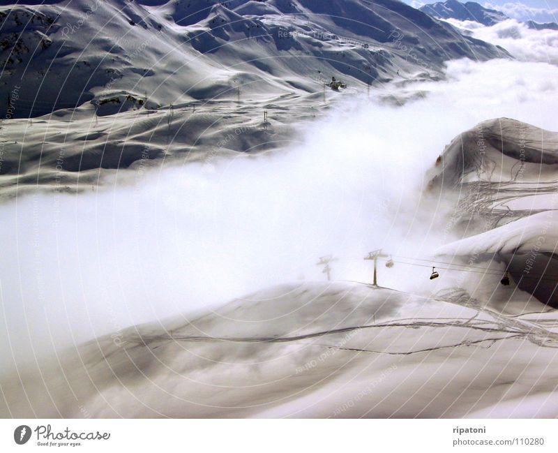 Vacation & Travel Relaxation Snow Mountain Fog Valley Ski lift Ski run