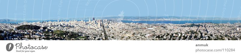 SanFrancisco 2003 Town Panorama (View) Might USA BigCity Far-off places ocean America Panorama (Format)