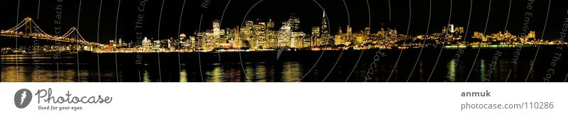 Skyline SanFrancisco 2003 Night shot Panorama (View) San Francisco USA America BigCity Panorama (Format)