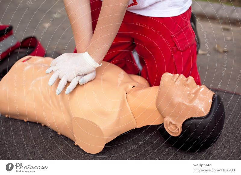 First aid training Healthy Health care Medical treatment Medication Massage School Doctor Hand Doll Heart Work and employment Breathe Running Touch Movement