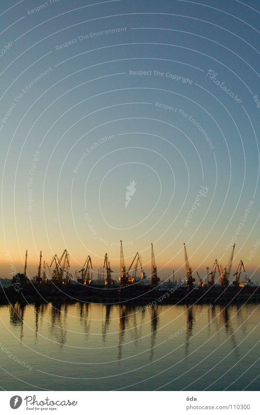 Water Sky Ocean Watercraft Industry Romance Harbour To enjoy Crane Dusk Surface Ukraine Black Sea