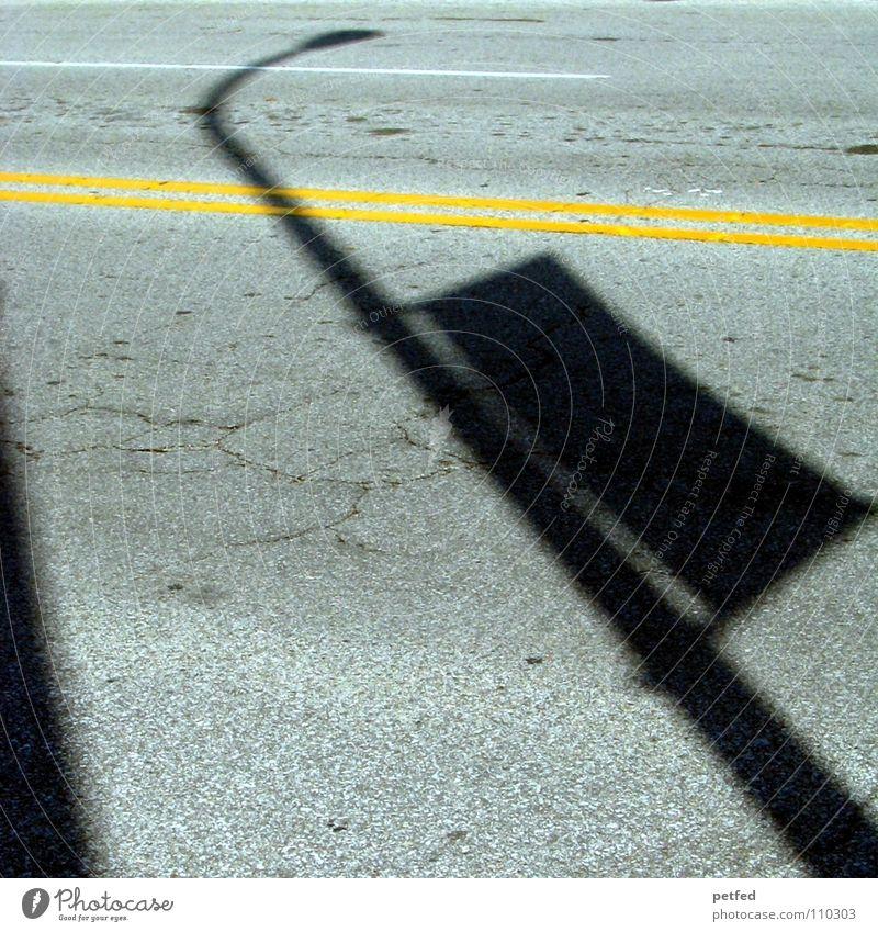 Shadows in Fremont Street lighting Transport Americas Michigan Vacation & Travel Black Yellow Concrete USA Line