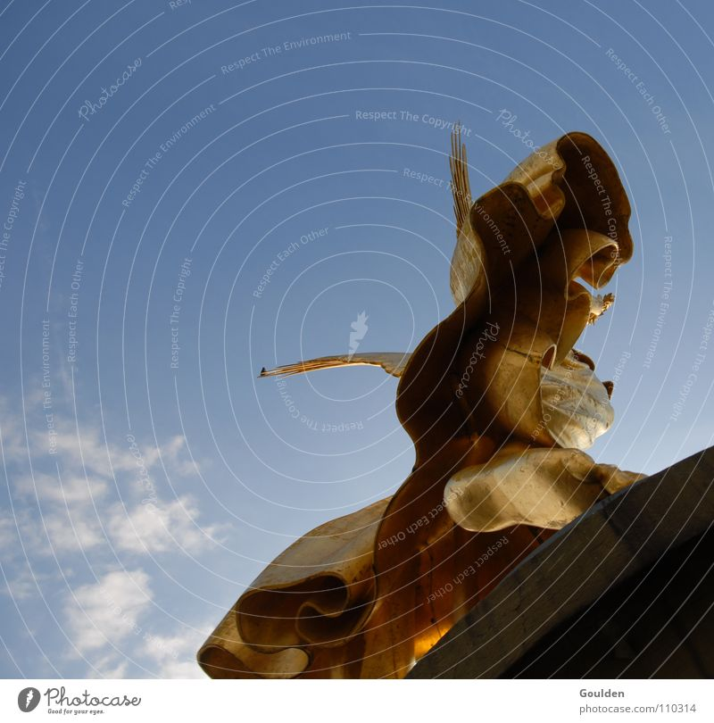 Sky aboveRock below Departure Victory column Monument Jump Might Angel Aviation Berlin Beginning Gold Contentment Above Blue