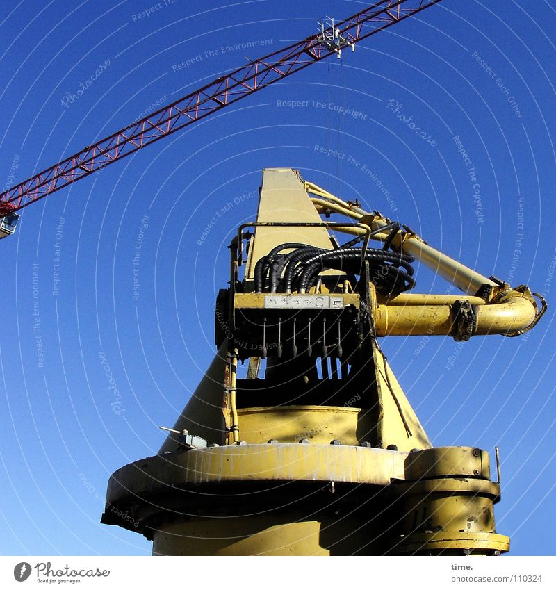 Sky Blue Yellow Work and employment Think Metal Industry Break Cable Level Construction site Profession Craft (trade) Distress Crane Construction worker