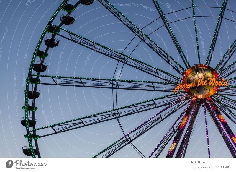 Around the World Deserted Movement Discover Relaxation Hang Above Blue Orange Black Moody Trust Experience Joy Tourism Ferris wheel Fairs & Carnivals