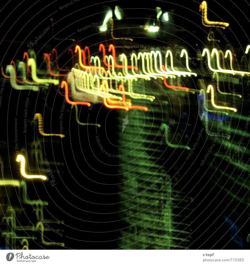 Dark High-rise Sign Visual spectacle UFO Exposure Aurora Borealis Sony Center Berlin