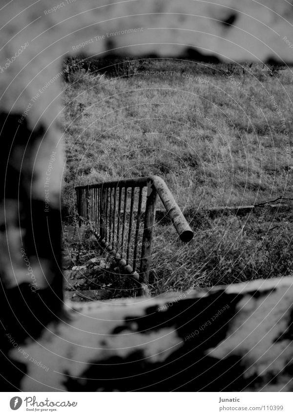Loneliness Dark Gate Derelict Rust Handrail Varnish Bursting