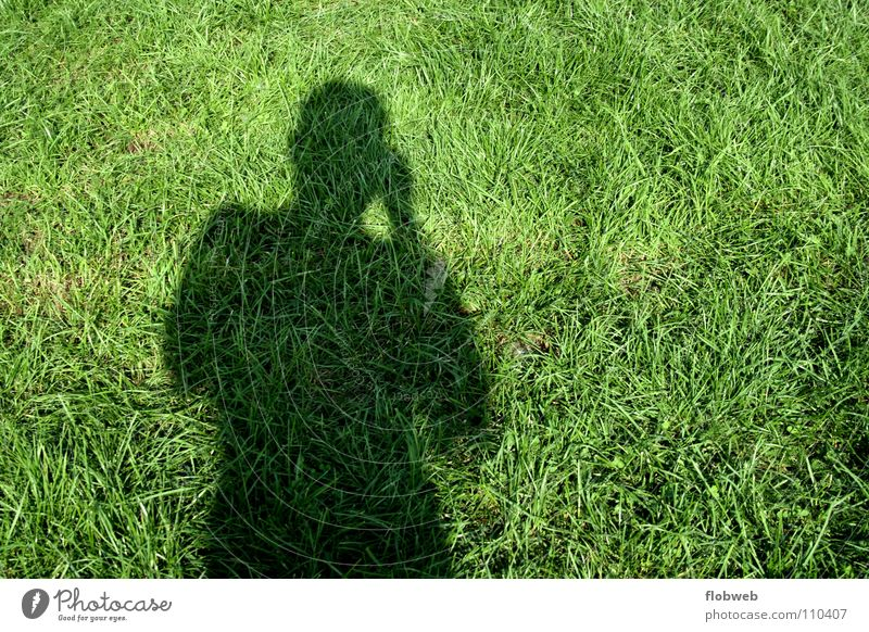 gras...!? Man Take a photo Dark Contentment Green Lawn Short Long Things Smoothness Europe Camping site Football pitch Grass Black Photographer Self portrait