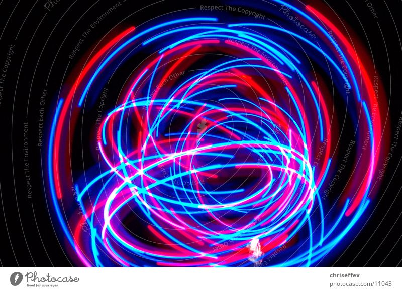 blink'a'round Light Tracer path Red Long exposure Tails Photographic technology Blue dynamic Movement