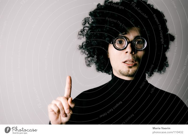 Jack wants to know! Eyeglasses Person wearing glasses Curiosity Think Outsider Aspire Teacher Curl Curly Hair and hairstyles Education Concentrate Success
