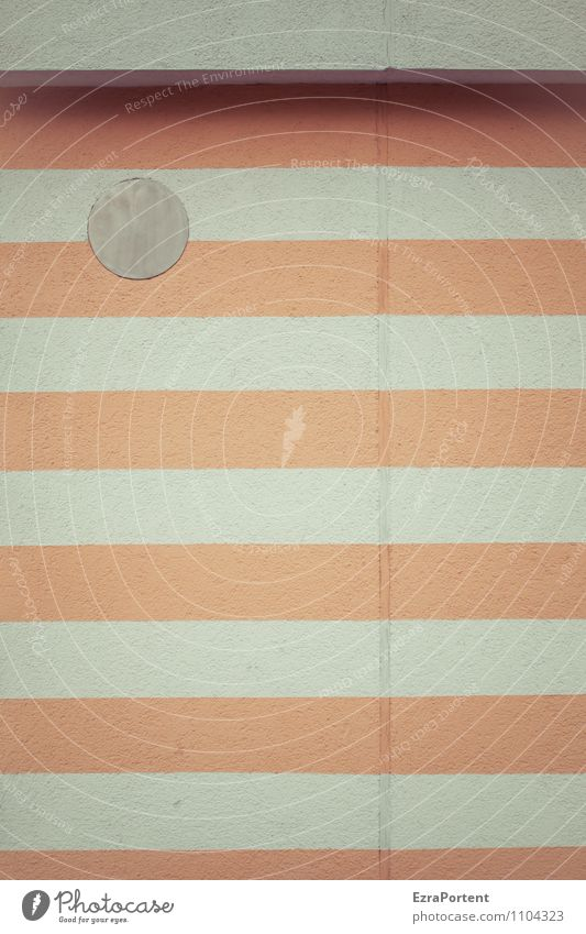 stripes and dot House (Residential Structure) Manmade structures Building Architecture Wall (barrier) Wall (building) Facade Concrete Line Stripe Gray Orange