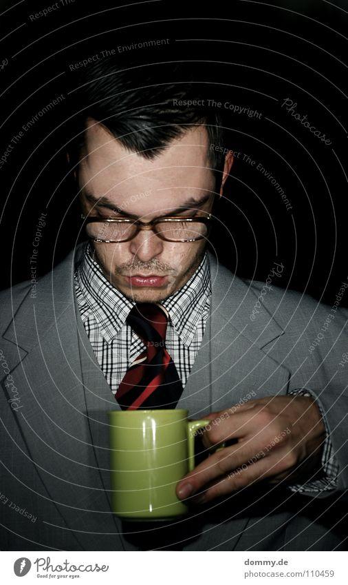 Man Hand Green Joy Coffee Black Dark Hair and hairstyles Arm Lighting Fingers Eyeglasses Drinking Break Ear Jacket