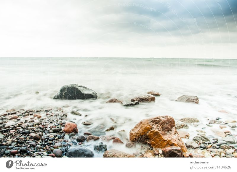Baltic Landscape Water Clouds Horizon Weather Bad weather Wind Gale Contentment Attentive Watchfulness Serene Colour photo Exterior shot Deserted Day