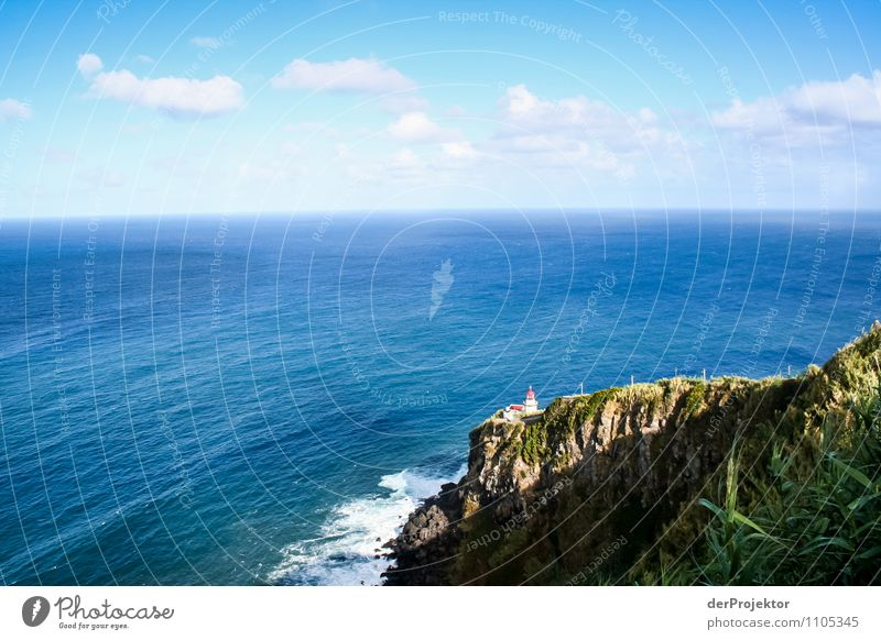 Small lighthouse and wide sea Vacation & Travel Tourism Trip Far-off places Freedom Environment Nature Landscape Plant Elements Summer Beautiful weather Hill